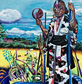 """Steffi Mayer, """"PPM 3"""", Tempera und Öl/ Leinwand, 2015, 190 x 190 cm, Foto: Arne Huber"""