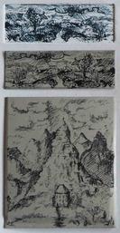 2 Algrafie-Test-Arbeitsproben mit einem Abdruck (oben: G. Wittwer, unten: M. Porstmann), Foto: G. Wittwer