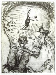 """""""Im Kopf"""", Kaltnadelradierung, 1991, 50 x 38 cm"""