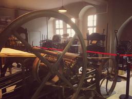 Maschinensaal des Druckgrafischen Museums Pavillon-Presse