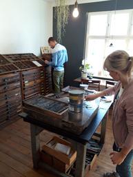 Workshop Linolschnitt + Handsatz + Druck = Druckkunst  © NUR EIN MÜ.