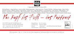 """Flyer Jahresausstellung BBK Ostfriesland """"Von Kopf bis Fuß"""""""
