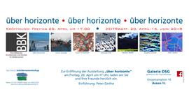 """Flyer Ausstellung """"über horizonte"""""""