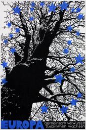 Europabaum, Linolschnitt von 2 Platten, 2018