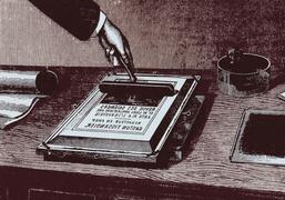 Einladungskarte im Siebdruckverfahren, © Antje Schneider