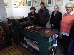 Besucher bei Slowtype am Tag der Druckkunst