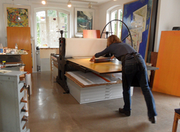 Susan Goethel-Campbell aus Detroit im Atelierhaus Beisinghoff 2012