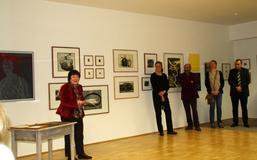 Eröffnung DRUCKKUNST mit Manfred Hammes, Karin Meiner, Titus Lerner, Sophia Pechau, Foto: M. Degen