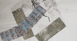 Zeit 4, Radierung/Collage, Iris Flexer, Foto: Iris Flexer
