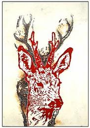 Albert Markert, o. T., Holzschnitt/Linolschnitt 70 x 100 cm, Unikat, Fotograf: Albert Markert