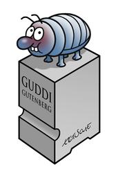 Bleilaus Guddi Gutenberg, Geschenk des Stern-Cartoonisten Tetsche an unseren gemeinnützigen Verein