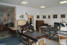Blick ins Druckgraphik-Atelier, Foto E. Hartwig