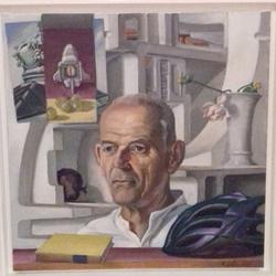 Reinhard Dassler, Portrait Eike Ullmann, 2008, Öl auf Leinwand, 49,5 x 49,5 cm, Foto: Dassler