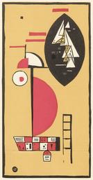 Wassilij Kandinsky, Komposition. Farbholzschnitt, 1930 (Reproduktion: Universitätsbibliothek Rostock)