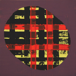 Doris Lasar, Kl. Komposition 1, 2018, Acryl, Papier, Spanplatte © VG Bild-Kunst; Foto: D. Lasar