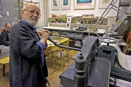 Peter Schlack bei den Vorbereitungen (Foto: Wolfram Isele)