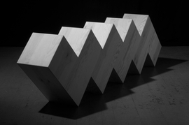 Zwei gestufte Elemente, 120 x 120 x 40 cm, 2010, Foto Rolf Giesen. © Wolfgang Hahn, VG Bild-Kunst