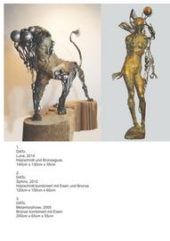 David Mcheidse, Sphinx, 2012, Holzschnitt Eisen Bronze, 120x150x160 cm, Foto: David Mcheidse