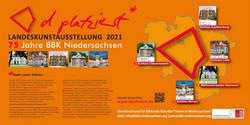Banner Landeskunstausstellung BBK Niedersachsen 2021