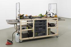 Mari Lena Rapprich, SOUND KITCHEN, 2021, mobiles Küchenmodul, Foto: Franziska von den Driesch